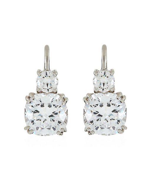 Carat* | White Cushion Drop Earrings | Lyst