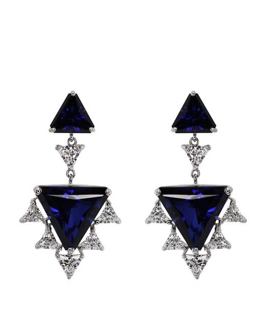Carat* | Blue Sylix Sapphire Cocktails Drop Earrings | Lyst