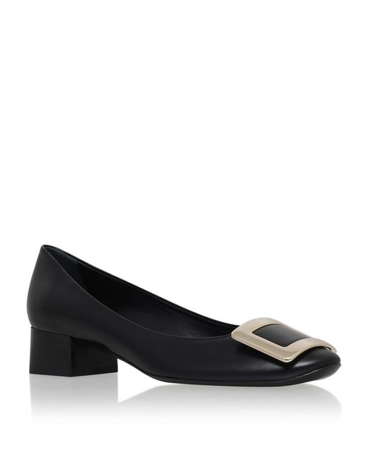 Roger Vivier | Black Belle De Nuit Leather Pumps | Lyst