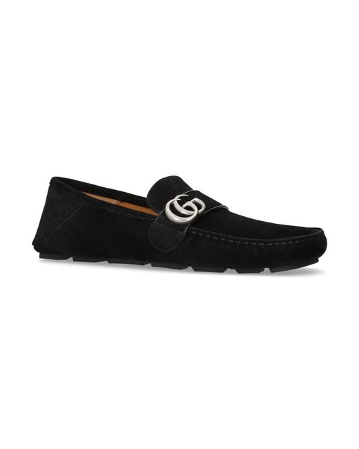 Gucci - Black Noel Suede Driving Loafers for Men - Lyst