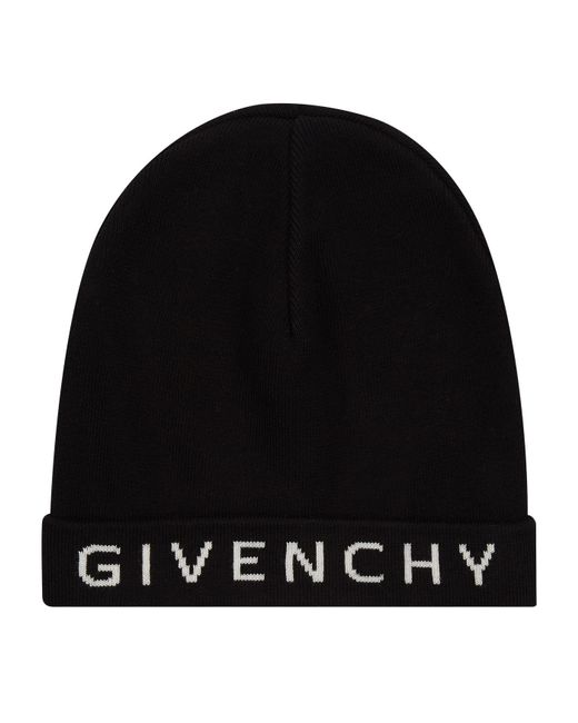 464f3f2430c Givenchy Logo Beanie Hat in Black for Men - Lyst
