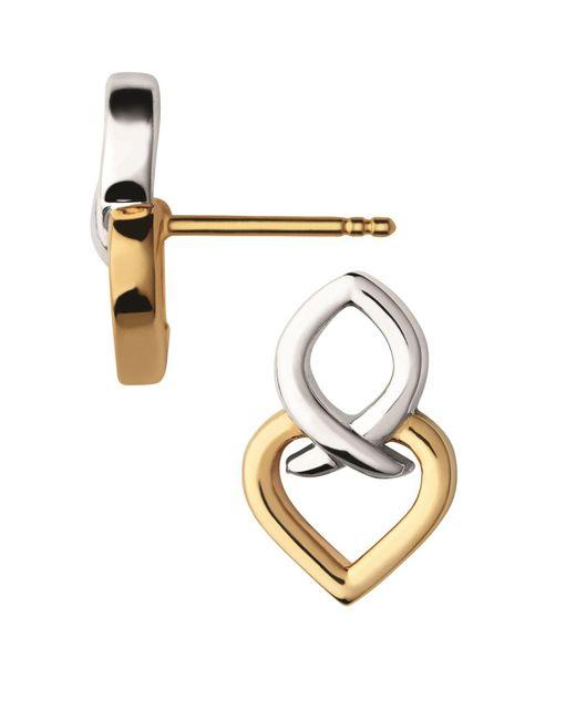 Links of London - Metallic Infinite Love Silver & Gold Earrings - Lyst