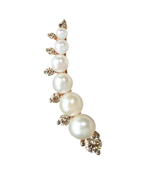 Annoushka | Metallic Diamonds And Pearls Right Ear Pin | Lyst