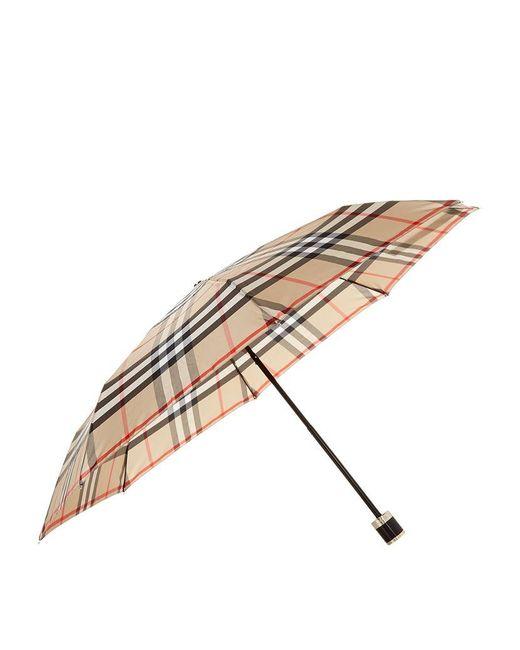 Burberry | Multicolor Check Folding Umbrella | Lyst