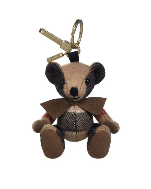Burberry - Brown Thomas Check Bear Charm - Lyst