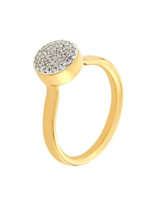 Monica Vinader | Metallic Ava Diamond Button Ring | Lyst