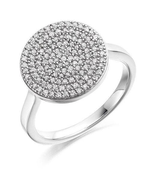 Monica Vinader | Metallic Ava Diamond Disc Ring | Lyst