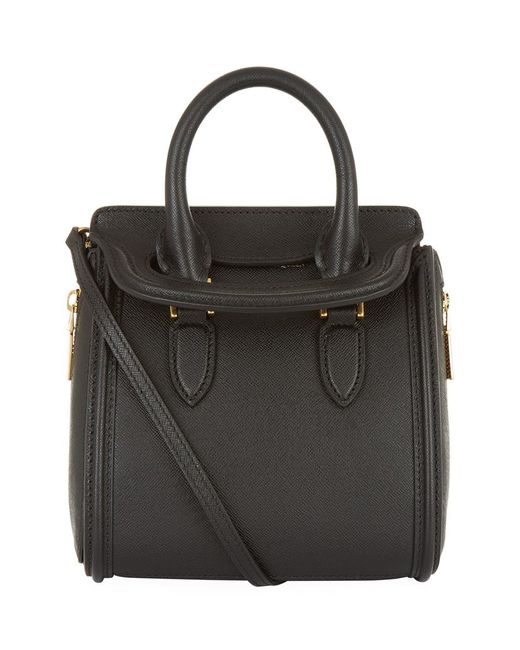 Alexander mcqueen Mini Grain Heroine Bag in Black | Lyst