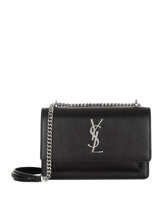 Saint Laurent Mini Sunset Shoulder Bag in Black - Lyst e6a598a75f6da