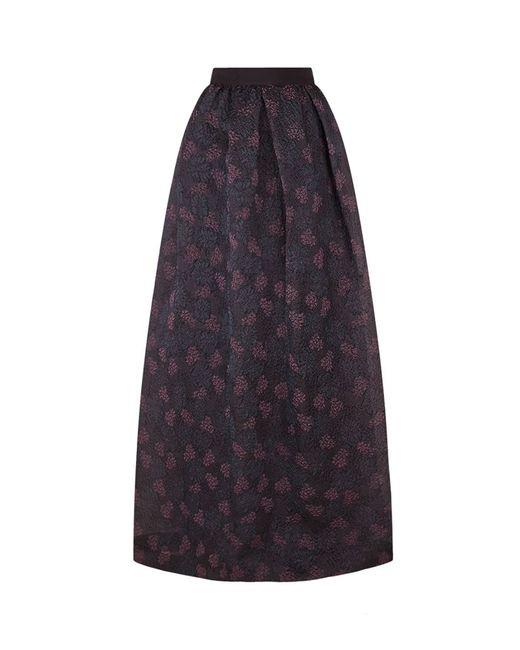 max mara jacquard floral maxi skirt in multicolour lyst