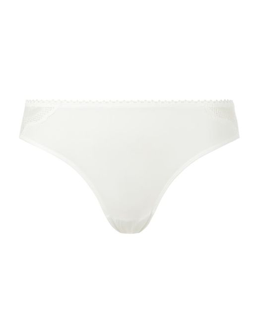 Wacoal | White Vision Lace Back Briefs | Lyst