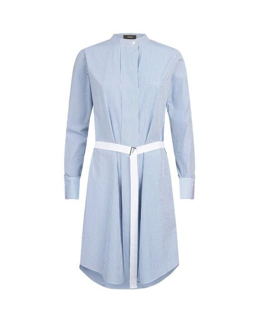 Theory | Blue Jodalee Shirt Dress | Lyst