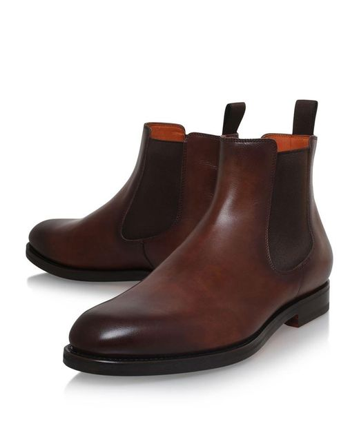santoni colin chelsea boots in brown for men lyst. Black Bedroom Furniture Sets. Home Design Ideas