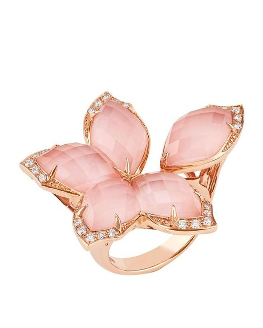 Stephen Webster | Pink Loves Me Not Crystal Haze Ring | Lyst