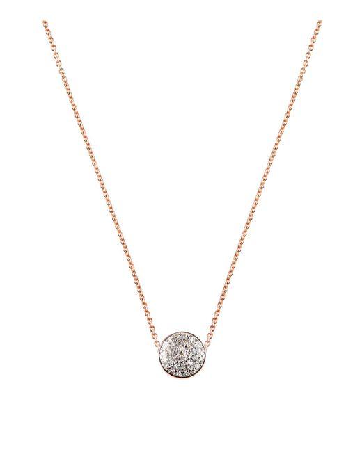 Monica Vinader - Pink Fiji Button Diamond Necklace - Lyst