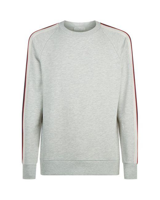 Sandro - Black Contrast Stripe Sweater for Men - Lyst