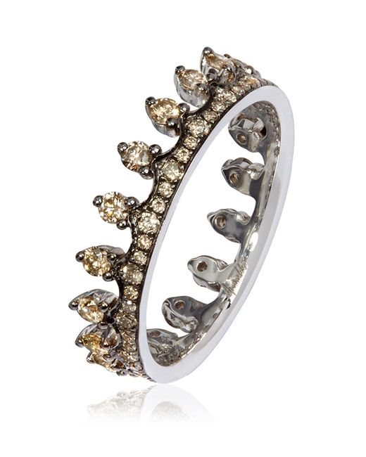 Annoushka - Metallic Brown Diamond White Gold Crown Ring - Lyst