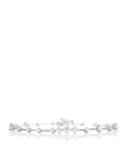 De Beers - Metallic White Gold Arpeggia One Line Bracelet - Lyst
