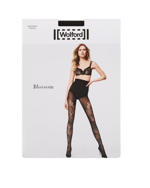 Wolford | Black Blossom Tights | Lyst