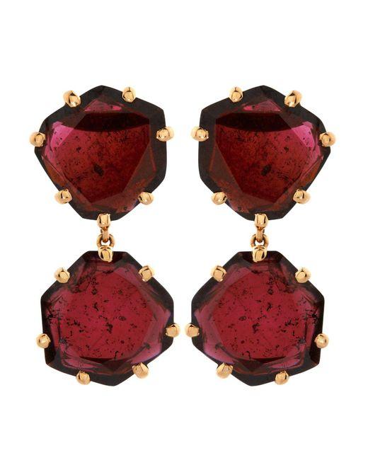 Annoushka - Red Shard Drop Earrings - Lyst