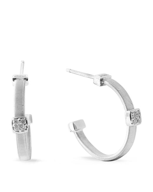 Marco Bicego | Masai Size 1 White Gold Diamond Earrings | Lyst