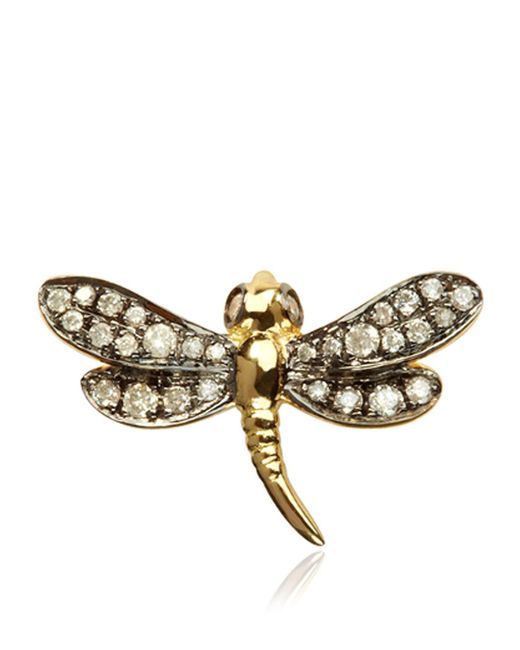 Annoushka | Metallic Love Diamonds Dragonfly Right Earring | Lyst