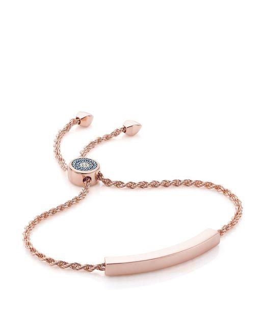 Monica Vinader - Pink Linear Evil Eye Bracelet - Lyst