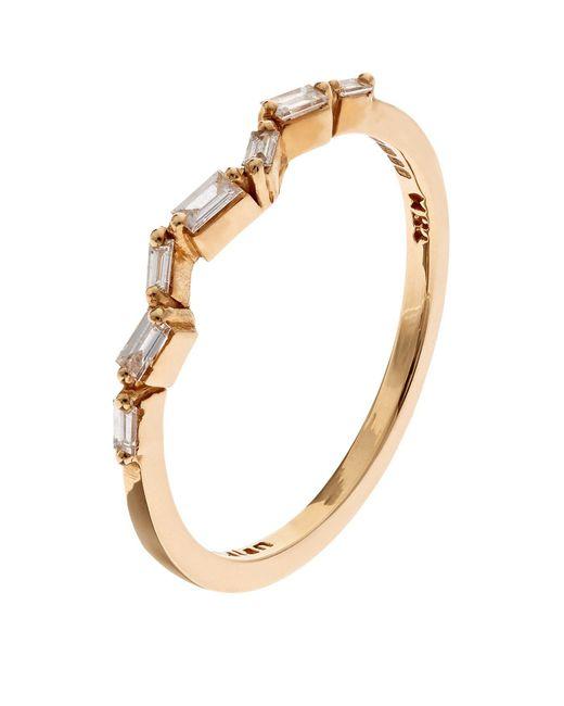 Suzanne Kalan - White Gold Baguette Diamond Firework Ring - Lyst
