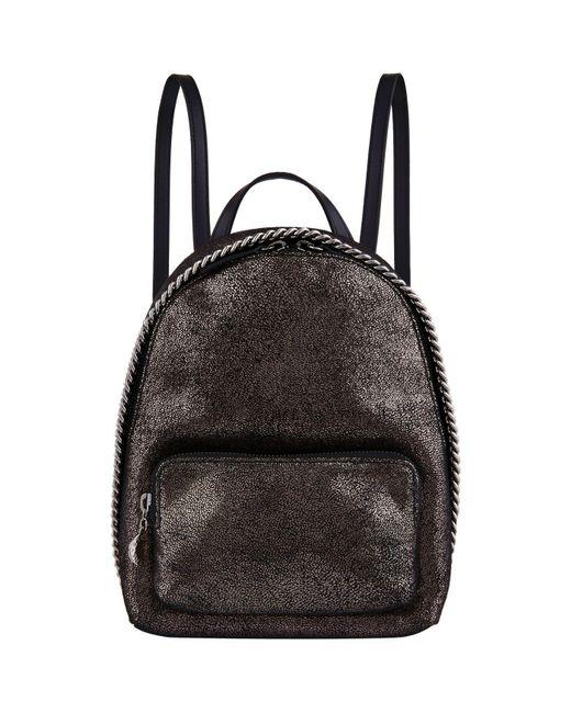 Stella McCartney - Metallic Mini Falabella Chamois Backpack - Lyst