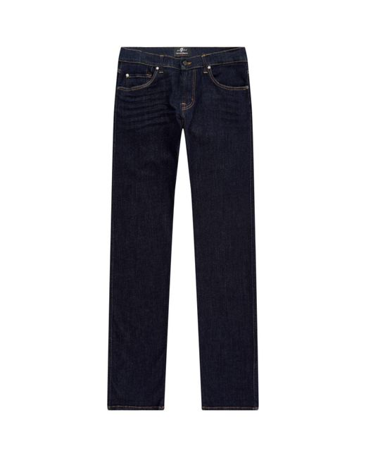 7 For All Mankind - Blue Kayden Slim Straight Fit Jeans for Men - Lyst