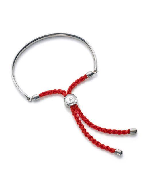Monica Vinader - Multicolor Fiji Sterling Silver Friendship Bracelet - Lyst