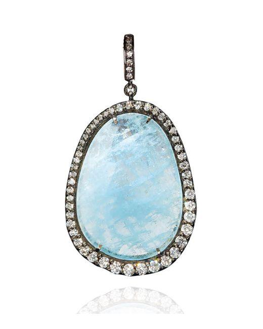 Annoushka | Metallic Aquamarine Diamond Pendant | Lyst