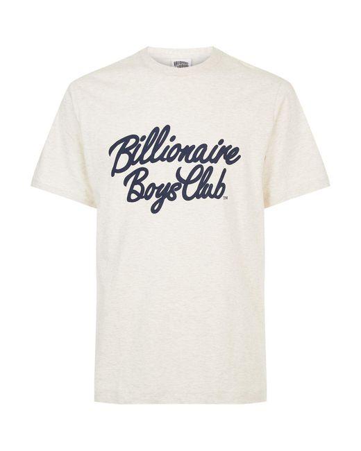 Billionaire Boys Club - Ice Cream   Natural Flock Script Logo T-shirt for Men   Lyst