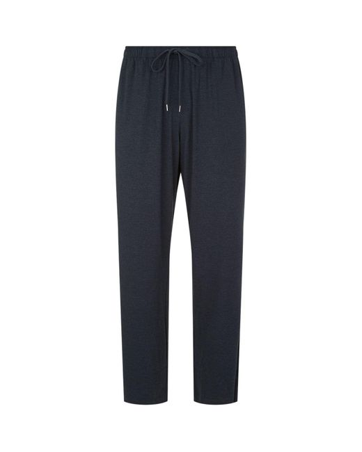 Derek Rose Gray Marlowe Lounge Trousers for men