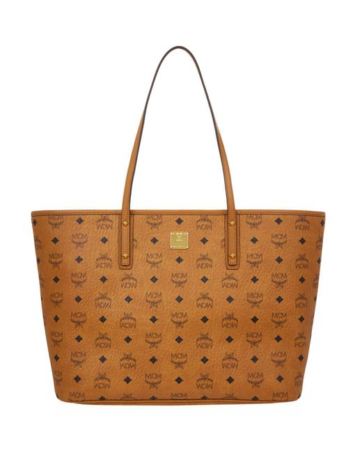 MCM - Brown Diamonds Leather Tote Bag - Lyst