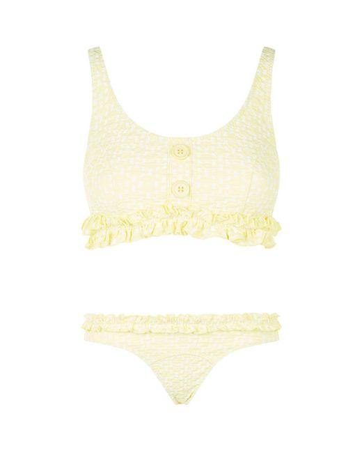 Lisa Marie Fernandez - Yellow Colby Seersucker Bikini - Lyst