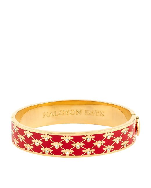 Halcyon Days - Red Bee Trellis Bangle - Lyst