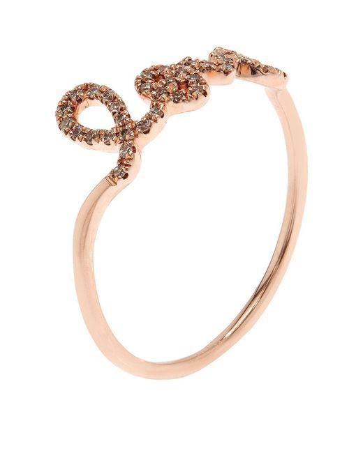 Sydney Evan | White Rose Gold And Diamond Love Ring | Lyst