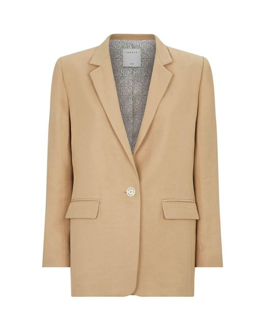 b0a46c7390e2 Lyst - Sandro Tailored Suit Jacket in Natural