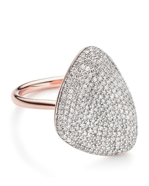 Monica Vinader - Metallic Nura Diamond Teardrop Ring - Lyst