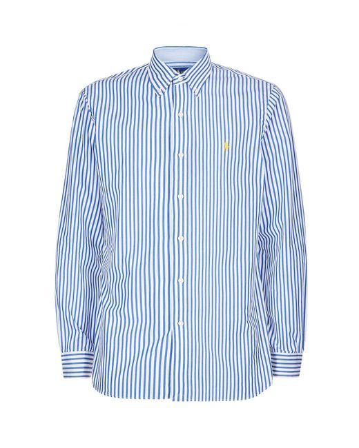 Ralph Lauren - Blue Bengal Stripe Poplin Shirt for Men - Lyst