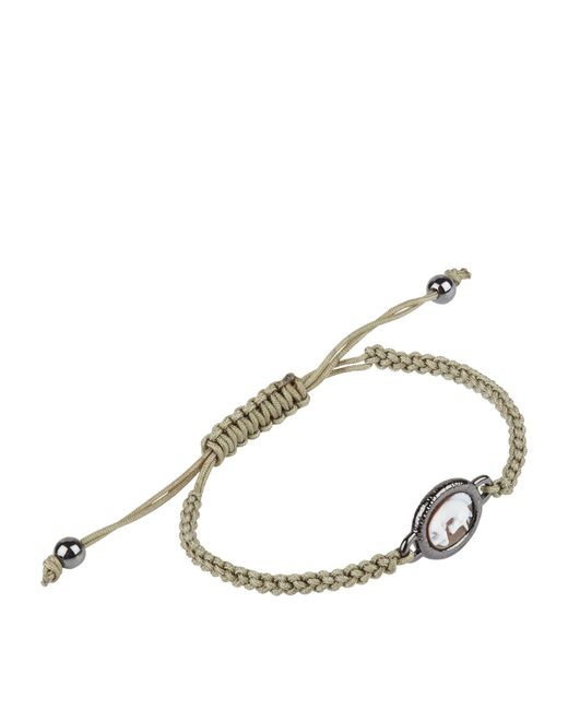 Amedeo - White Unicorn Macrame Bracelet for Men - Lyst