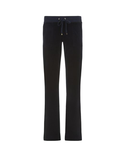 Juicy Couture | Blue J Bling Velour Bootcut Track Pant | Lyst
