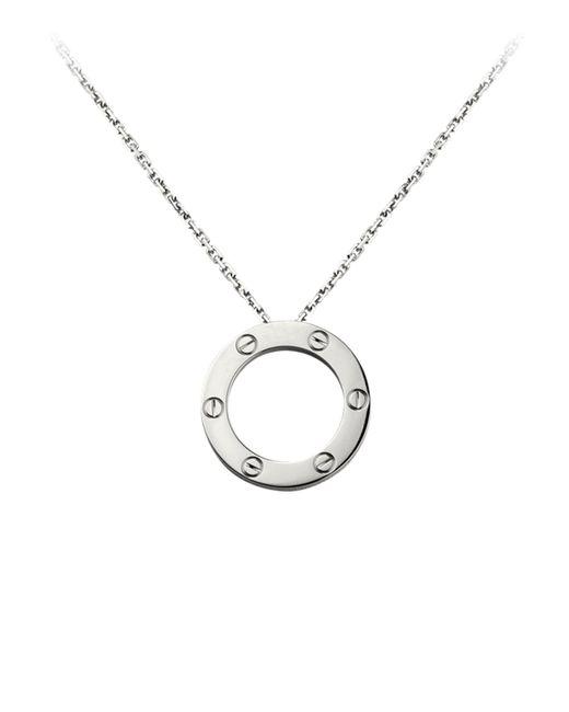 Cartier - Metallic White Gold Love Necklace - Lyst