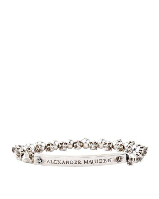 Alexander McQueen - Metallic Mini Skull Bracelet for Men - Lyst