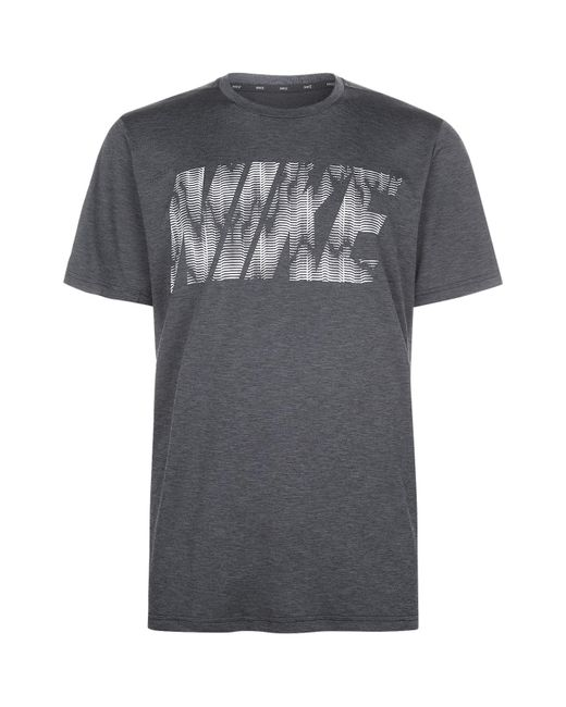 Nike | Gray Dry Training Top for Men | Lyst