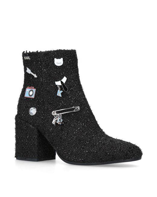 Karl Lagerfeld - Black Lavinia Ankle Boots - Lyst
