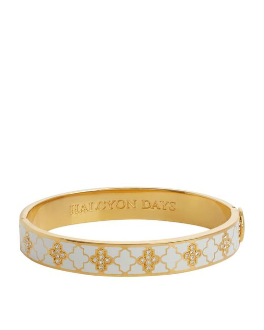 Halcyon Days - Natural Gold And Crystal Agama Bangle - Lyst