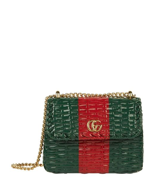 Gucci Multicolor Mini Web Wicker Shoulder Bag