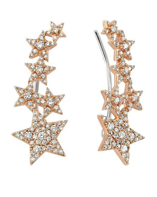 Bee Goddess - White Star Light Diamond Ear Cuffs - Lyst